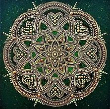 Dekorácie - MANDALA ZDRAVIA na podporu UZDRAVENIA, LIEČIVÁ MANDALA-energetický obraz - 13703678_