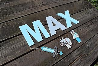 Detské doplnky - 13cm písmenká pre Maxa+minecraft...na želanie - 13707215_