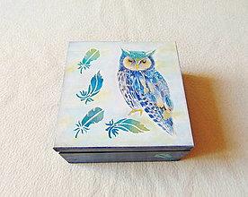 Krabičky - Drevená krabička Sovička - 13706875_