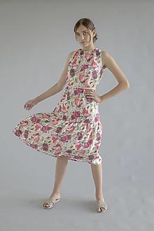 Šaty - Robe en lin Fleuri - 100% ľan - 13708949_
