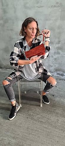 Kabelky - RED Brick kožená kabelka - 13708424_