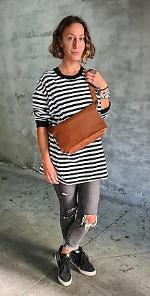 Kabelky - CARAMEL bag kožená kabelka - 13708569_