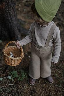 Detské oblečenie - Široké pletené nohavice - 13706704_