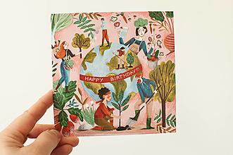 """Papier - Pohľadnica """"Udržateľné narodeniny"""" - 13706470_"""