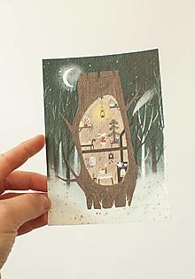 """Papier - Špeciálna kvitnúca pohľadnica """"príprava na Vianoce"""" - 13706670_"""