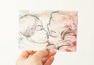 """Papier - Špeciálna kvitnúca pohľadnica """"spojenie"""" - 13706786_"""