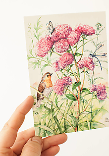 """Papier - Pohľadnica """" na lúke"""" - 13707088_"""