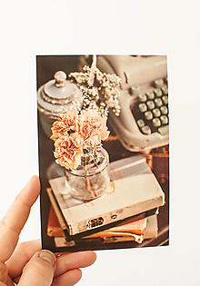 """Papier - Pohľadnica """" zátišie pohody"""" - 13707213_"""