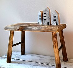 Nábytok - Masívny drevený stolec - natur - 13707713_