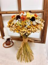 Dekorácie - Kytica zo sušených kvetov - 13707612_