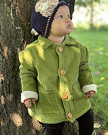Detské oblečenie - Menčestrový detský kabátik - 13707408_
