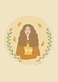 "Grafika - Ilustrácia ""Jesenná slečna"" - 13710598_"