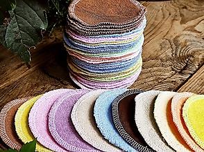 Úžitkový textil - Mix kozmetické tamponky 10ks / 9 cm - 13711769_