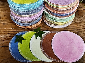 Úžitkový textil - Mix kozmetické tampóny 5 ks / 13 cm - 13711966_
