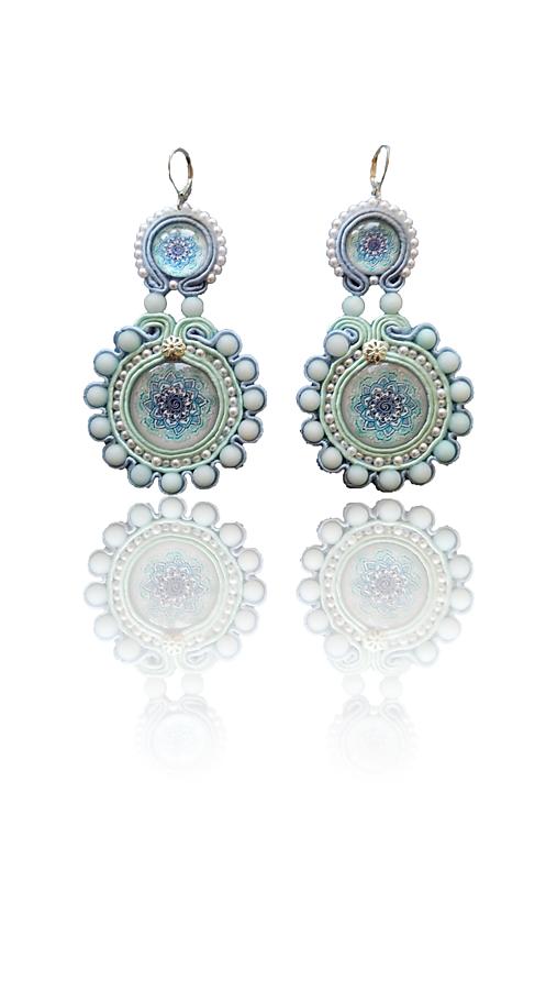 Margaréta handmade soutache náušnice - autorské šperky Lekida