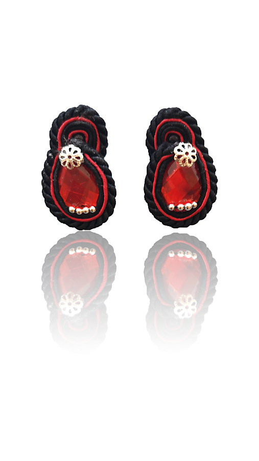 Appassionato handmade soutache náušnice - autorské šperky LEKIDA