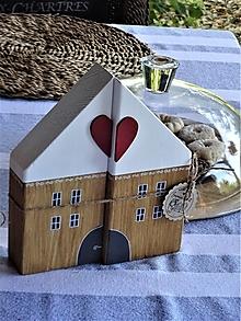 Dekorácie - Sada dvoch domčekov - 13715259_
