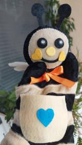 Hračky - Maňuška včela - 13715501_