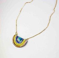 Náhrdelníky - Tana šperky - keramika/zlato, dúha.... - 13714367_