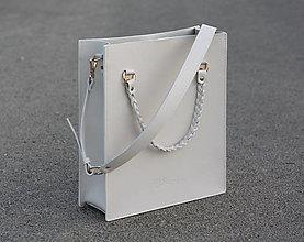 Veľké tašky - Kožená shopper kabelka- SLONOVINOVÁ KOSŤ - 13715101_