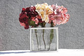 Dekorácie - Jesenná dekorácia s hortenziami - 13715804_