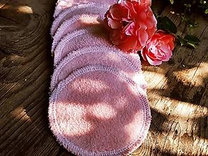 Úžitkový textil - Ružové tamponiky 10 ks Baranček - 13716459_