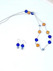 Sady šperkov - Modrá súprava šperkov Florida - 13714847_