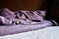Úžitkový textil - Lněné povlečení Violet - 13714394_