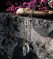 Náhrdelníky - Krištáľ s perlou na retiazke - 13716365_