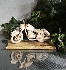 Dekorácie - Drevená motorka - 13715496_