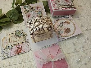 Papiernictvo - Svadobná gratulačná krabička / Exploding box S altánkom - 13714973_