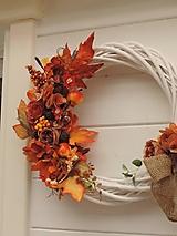 Dekorácie - Jesenný veniec XXL - 13717415_