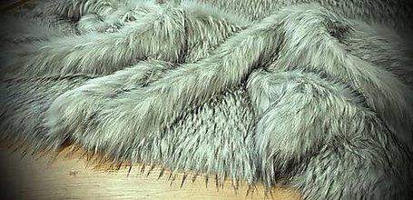 Textil - Kožušina huňatá - Šedý vlk TOP - cena za 10 cm - 13716699_