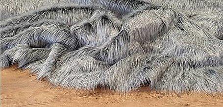 Textil - Kožušina umelá - Grey One Top - cena za 10 cm - 13716700_