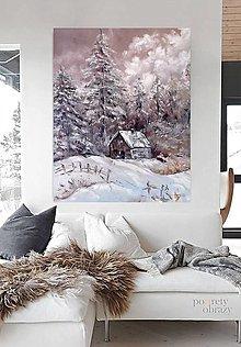 Obrazy - Zimná krajinka - 13718892_