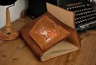 Papiernictvo - kožený midori zápisník FOXIE - 13717942_