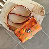 Kabelky - MidiMe Oranges (ručne maľovaná) - 13717222_