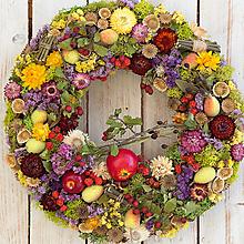 Dekorácie - Prírodný veniec na dvere ... s jabĺčkami ... - 13717864_