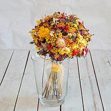 Dekorácie - Jesenná vidiecka kytica - 13717925_