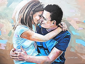 Obrazy - Objatie - akrylový obraz na želanie - 13717609_