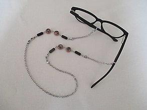Šperky - Retiazka na okuliare alebo náhrdelník s drevenými korálkami - chirurgická oceľ - 13718428_