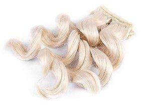 Iný materiál - Vlasy pre bábiku 25 cm, vlnité - 13718318_