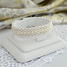 Náramky - Lace náramok mini (Ag925) - 13719532_