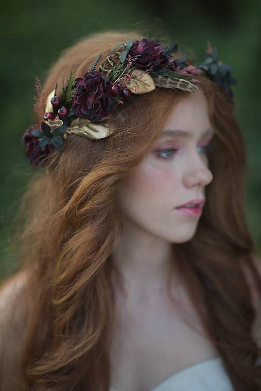 """Kvetinový venček """"tichý šepot lesa"""""""
