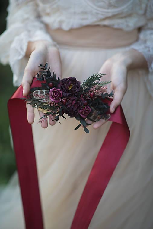 "Kvetinový opasok ""tichý šepot lesa"""