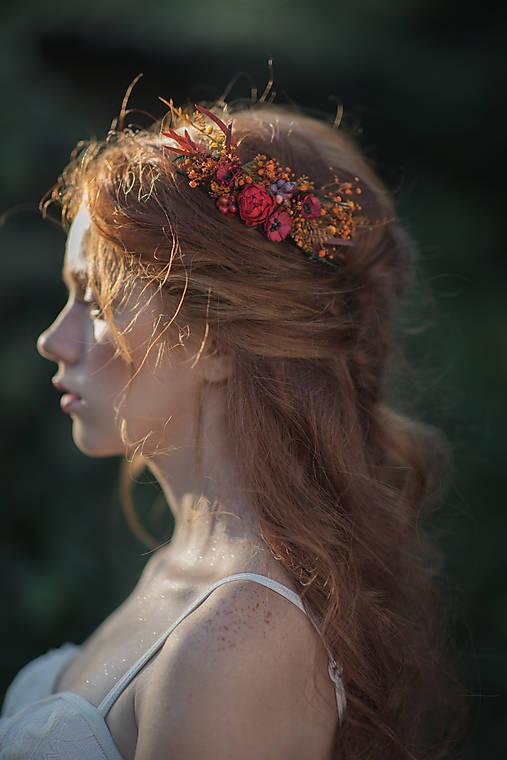 """Ozdoby do vlasov - Kvetinový hrebienok """"dúšok jesene""""   - 13717581_"""