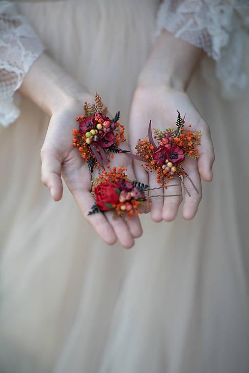 """Kvetinová vlásenka """"dúšok jesene"""""""