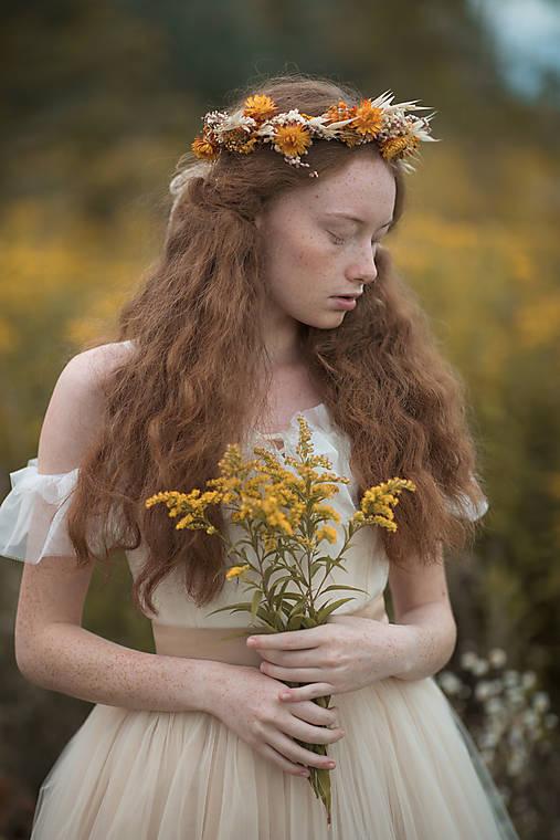 """Kvetinový venček """"čaro jesenného slnka"""""""