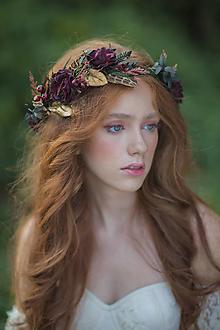 """Ozdoby do vlasov - Kvetinový venček """"tichý šepot lesa"""" - 13717476_"""