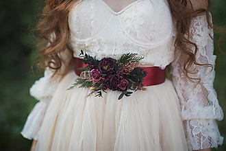 "Opasky - Kvetinový opasok ""tichý šepot lesa"" - 13717524_"